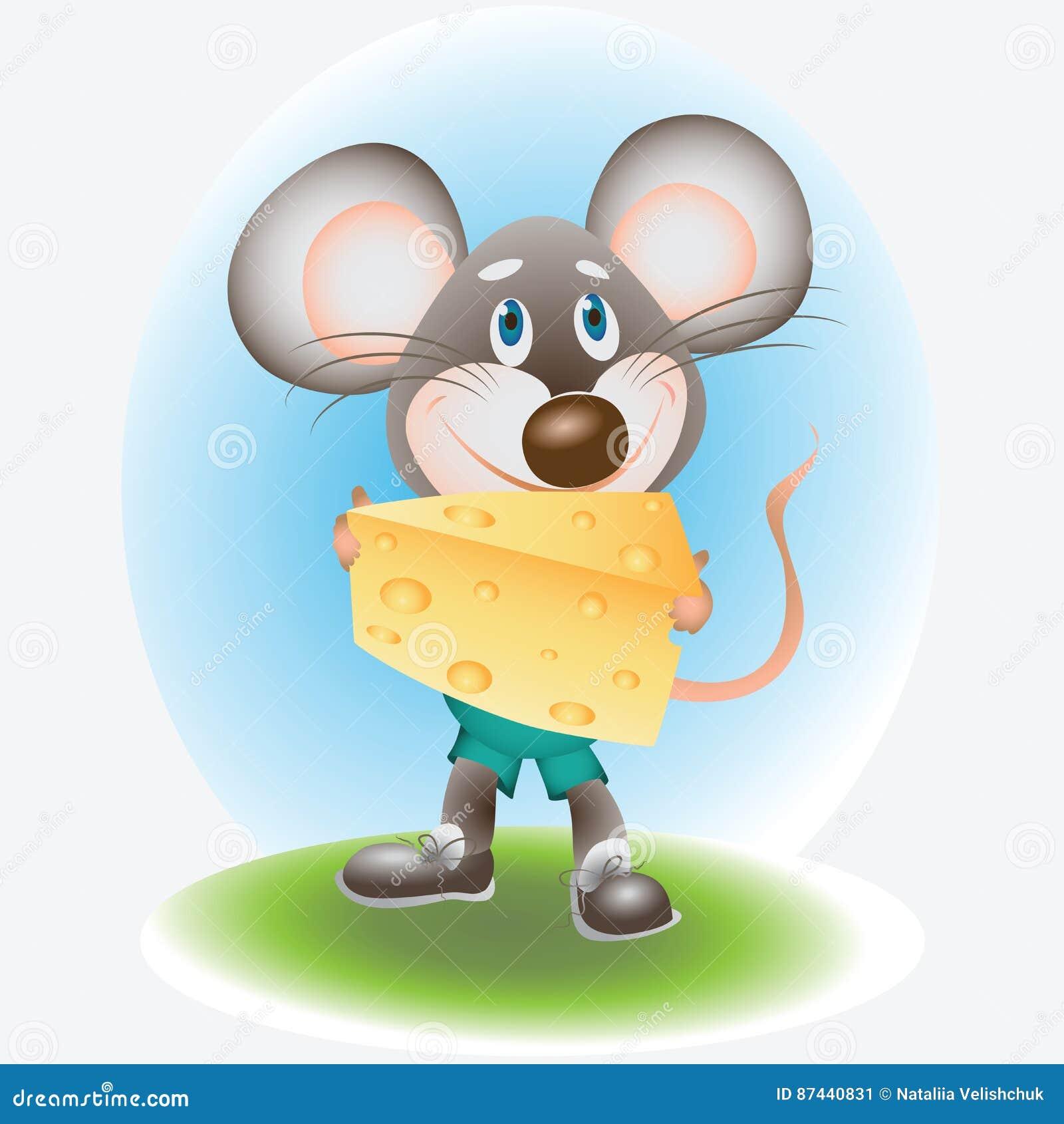 Rato e queijo alegres