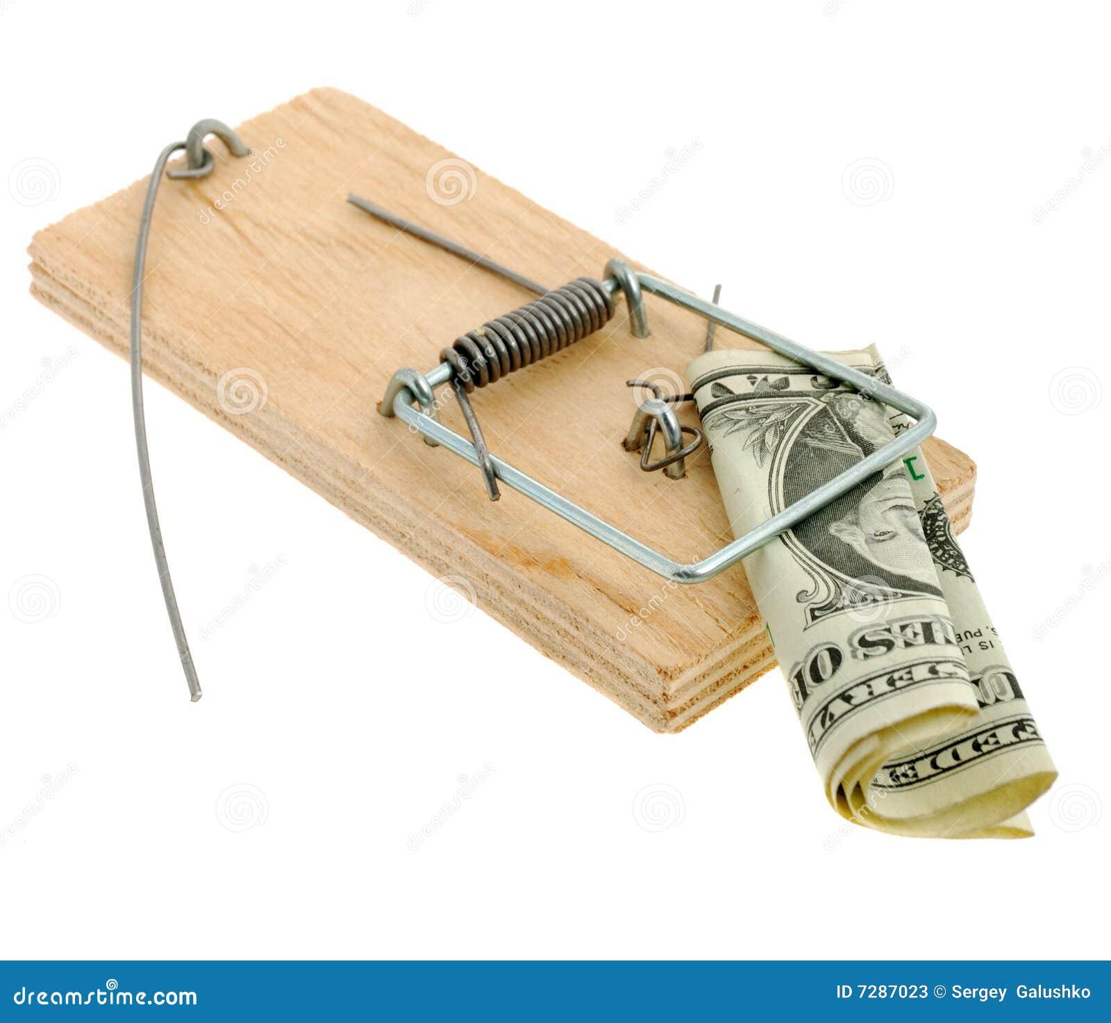 Ratonera con el dólar