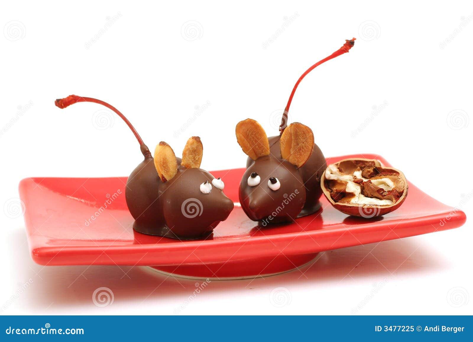 Ratones hechos en casa del chocolate - Ratones en casa ...