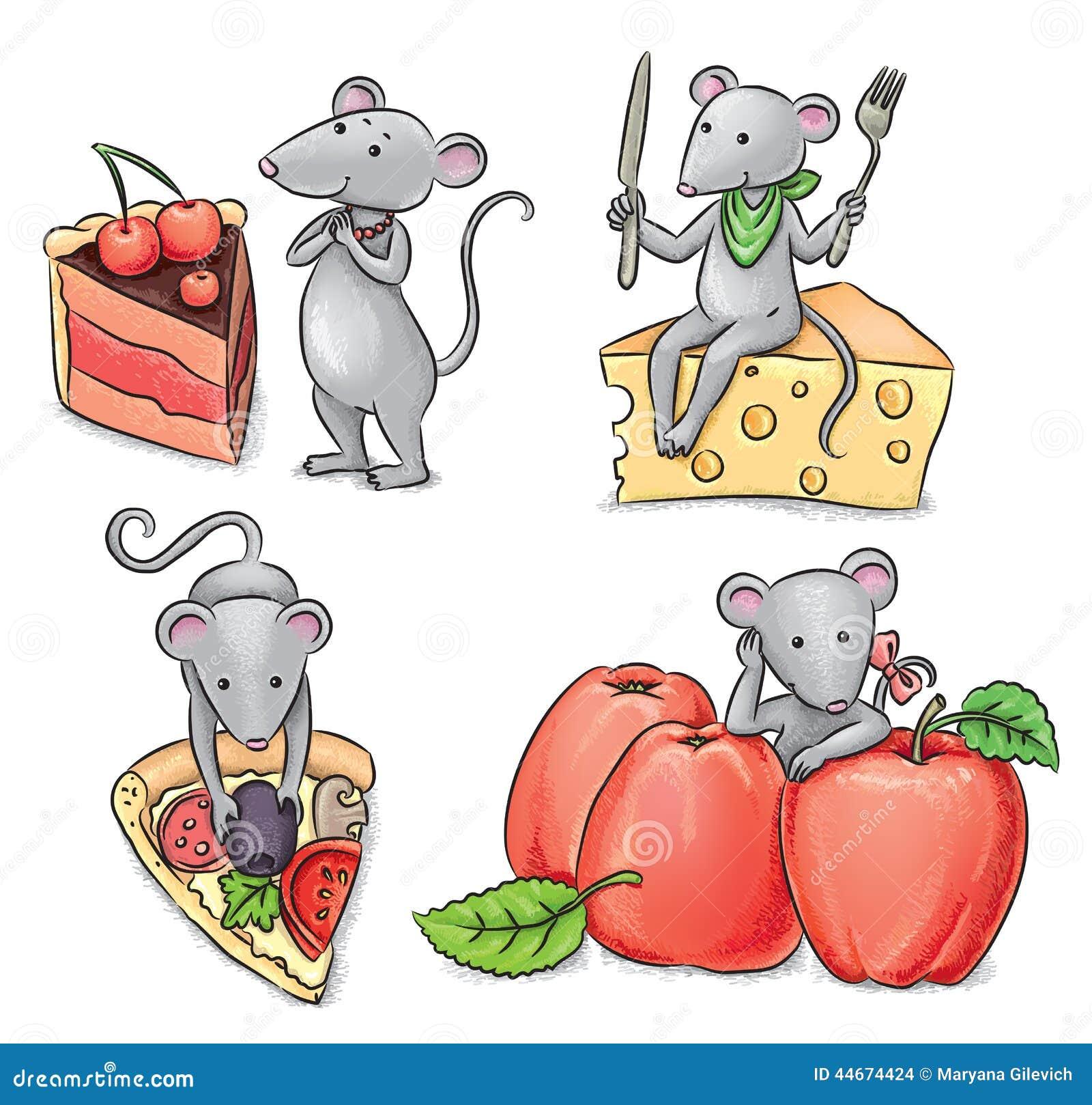 Ratones y comida ilustraci n del vector imagen 44674424 - Comida para ratones ...