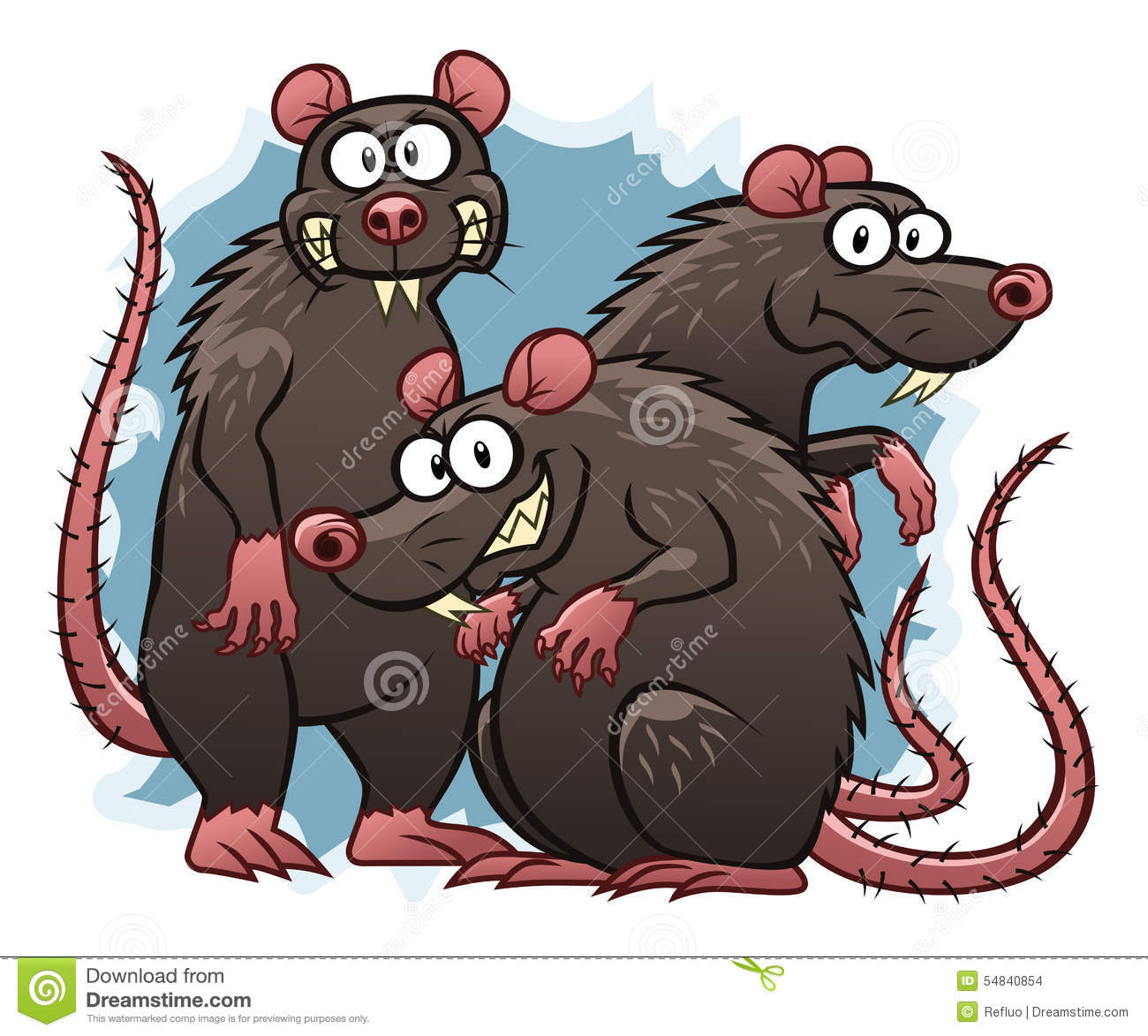 evil cartoon rats