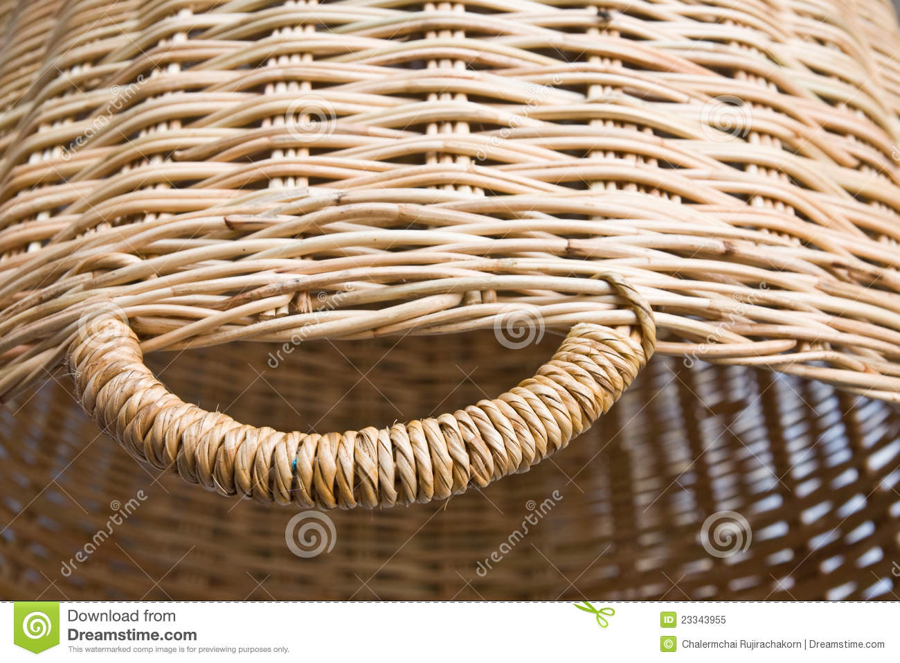 Handicraft Basketry : Rattan basketry royalty free stock photo image