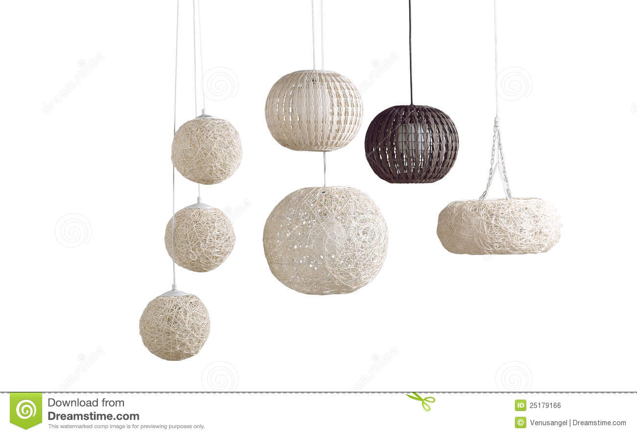 Modern hotel room interior stock photo image 18197840 - The Rattan Ceiling Lamps Royalty Free Stock Image