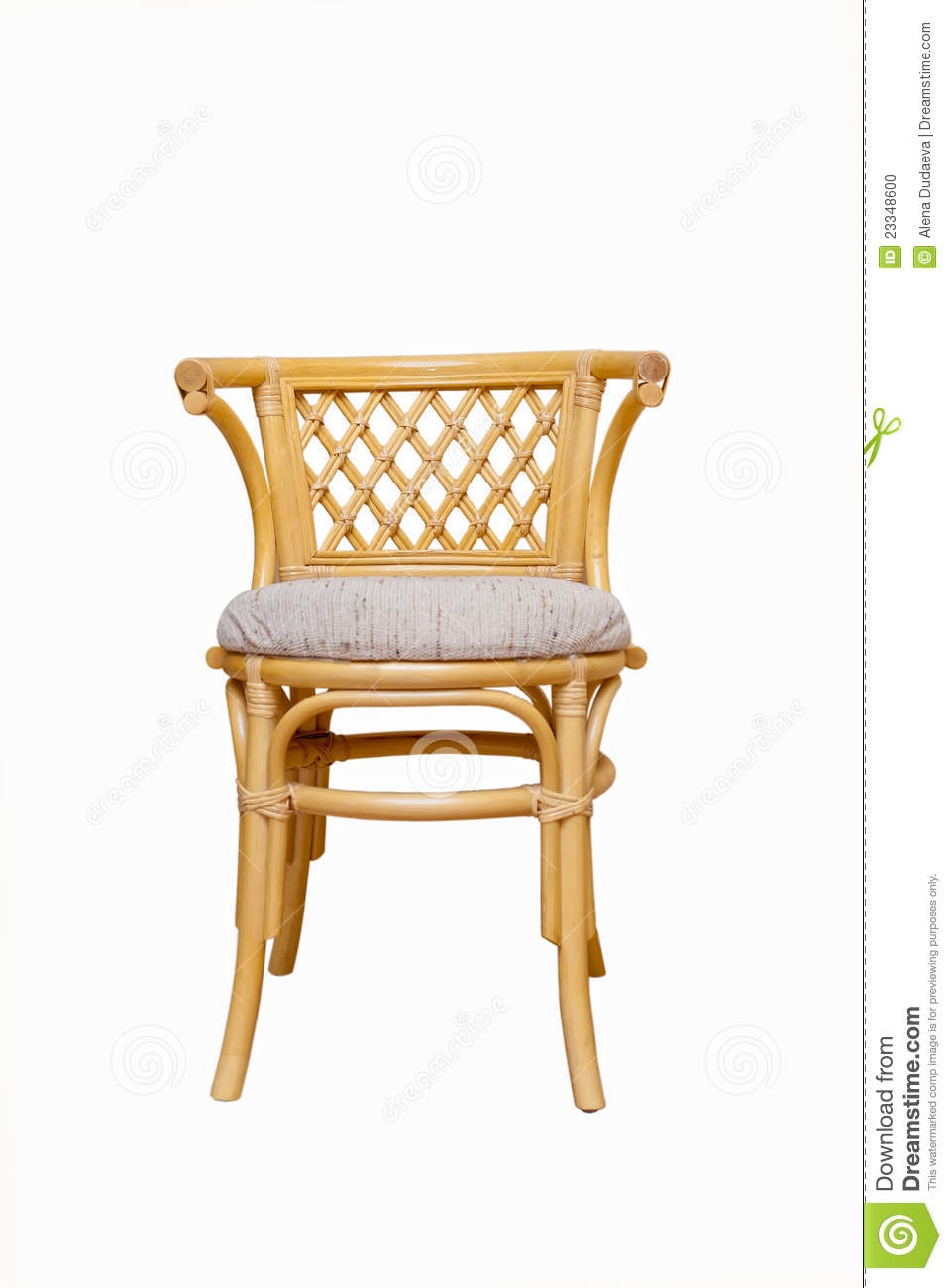 Rattan Chair On A White Background Stock Photo Image