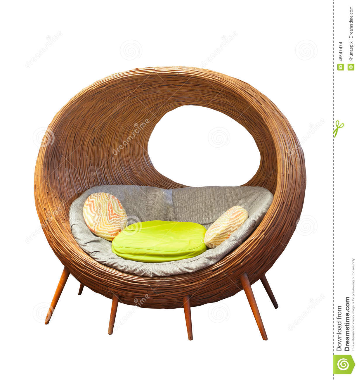 Rattan Round Wicker Patio Chairs For Home Living Room Decorated