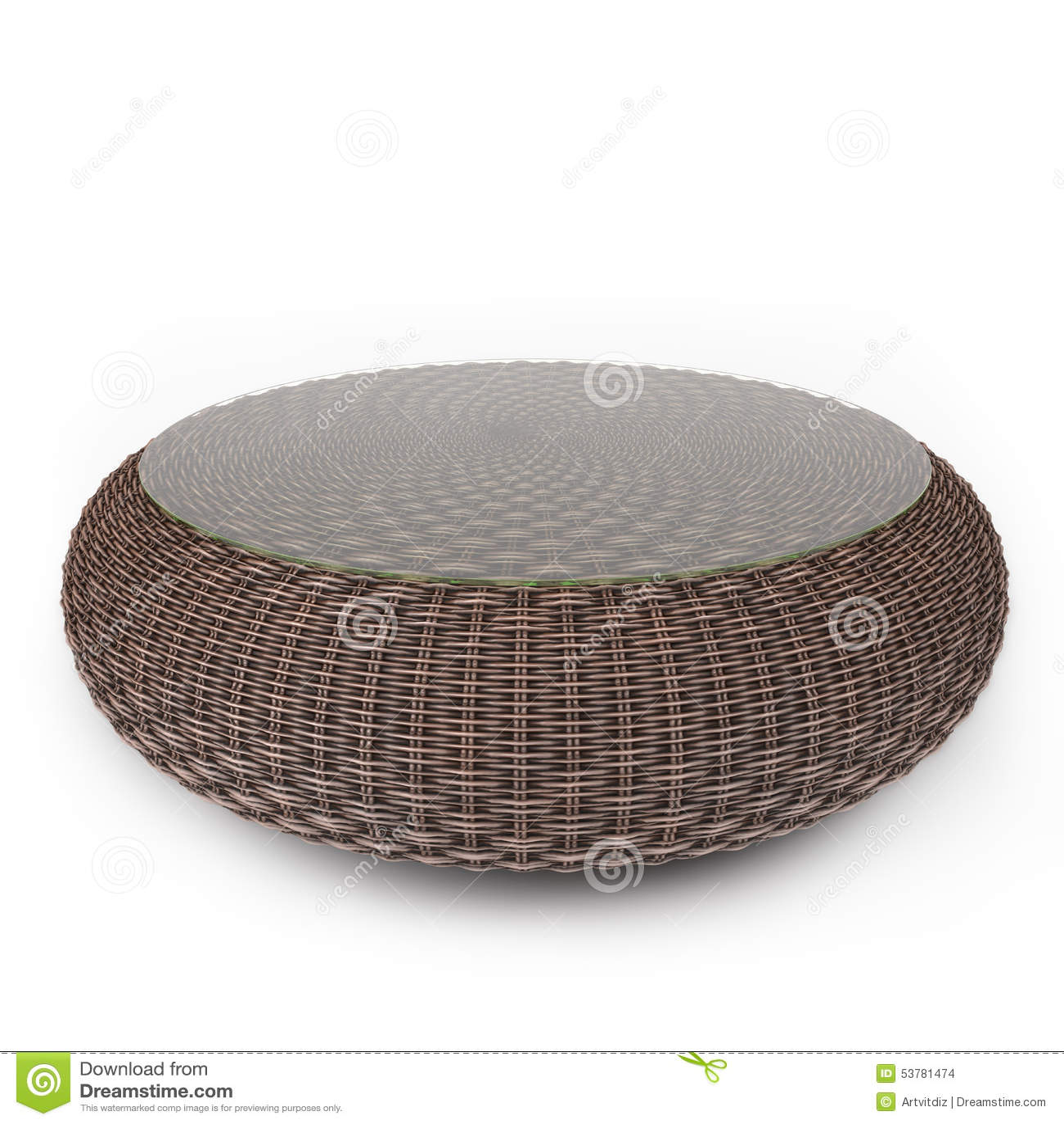 Rattan stół