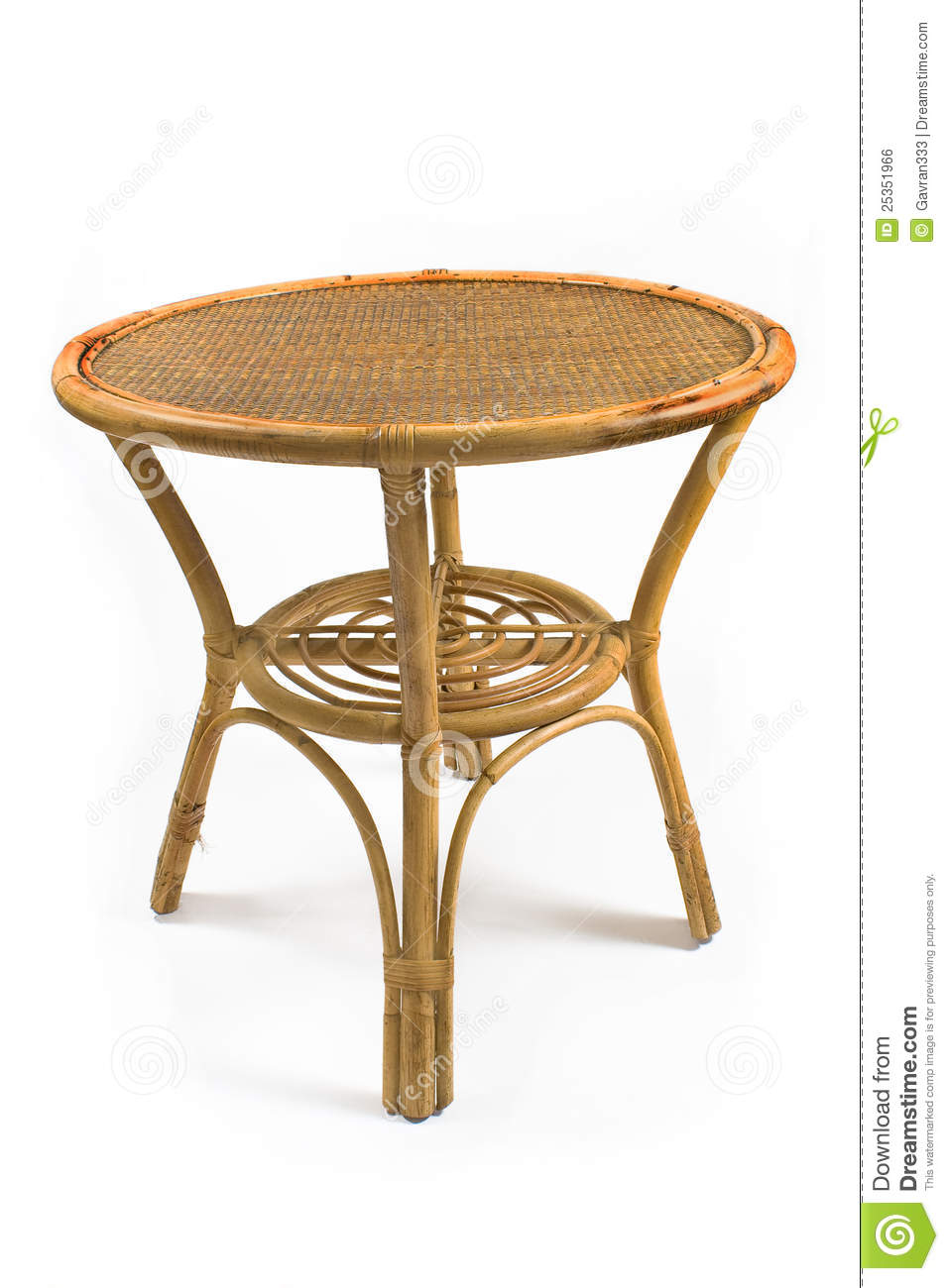 Rattan Table Royalty Free Stock Image - Image: 25351966