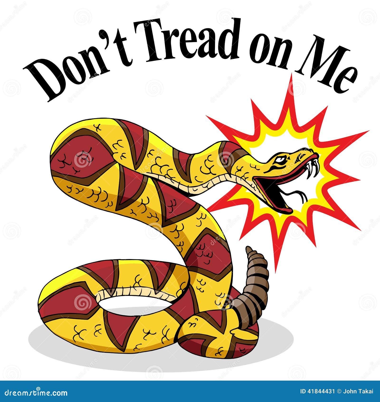 rattlesnake dont tread on me stock vector illustration of