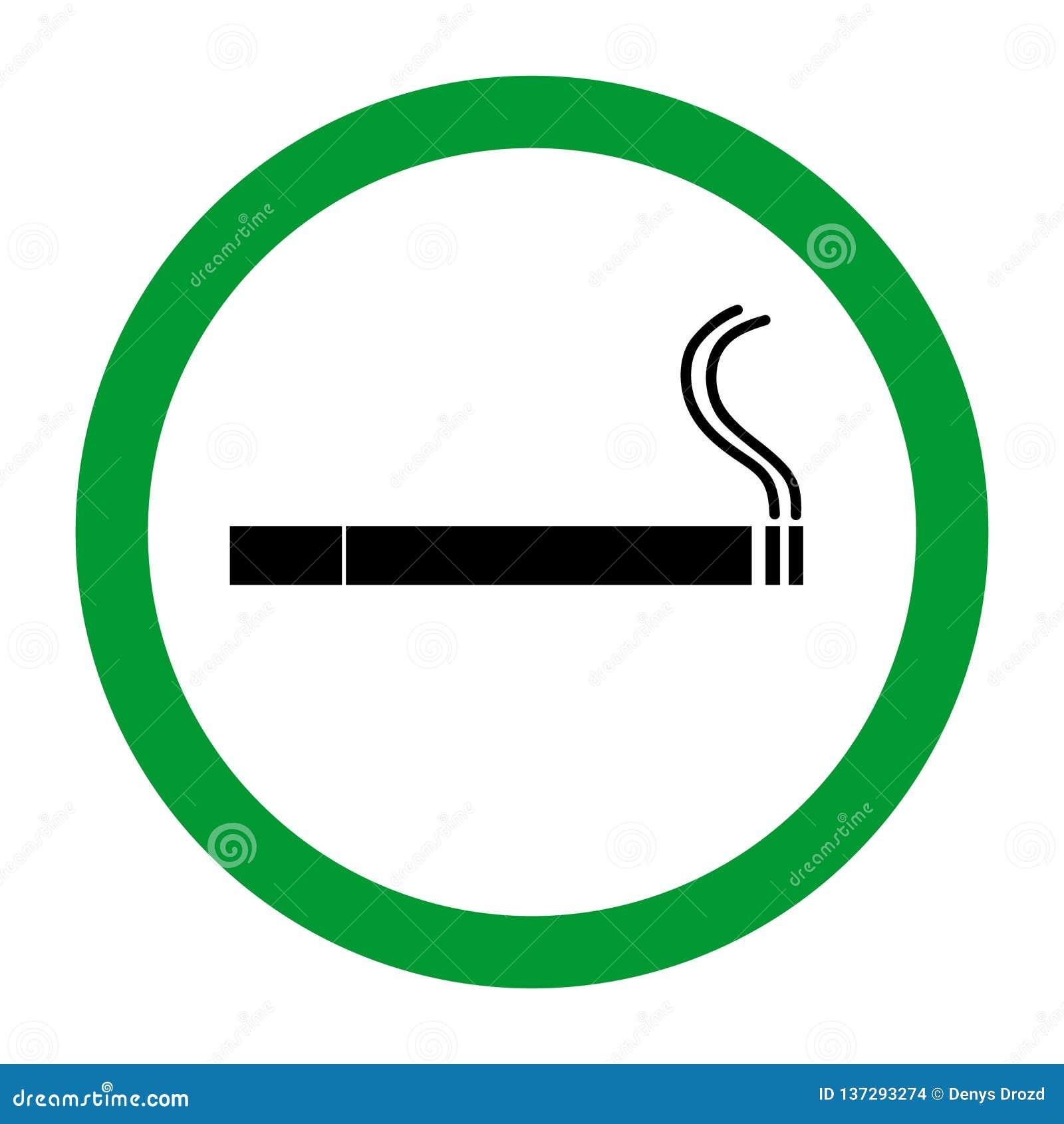 Rauchbereichs-Ikonenillustration