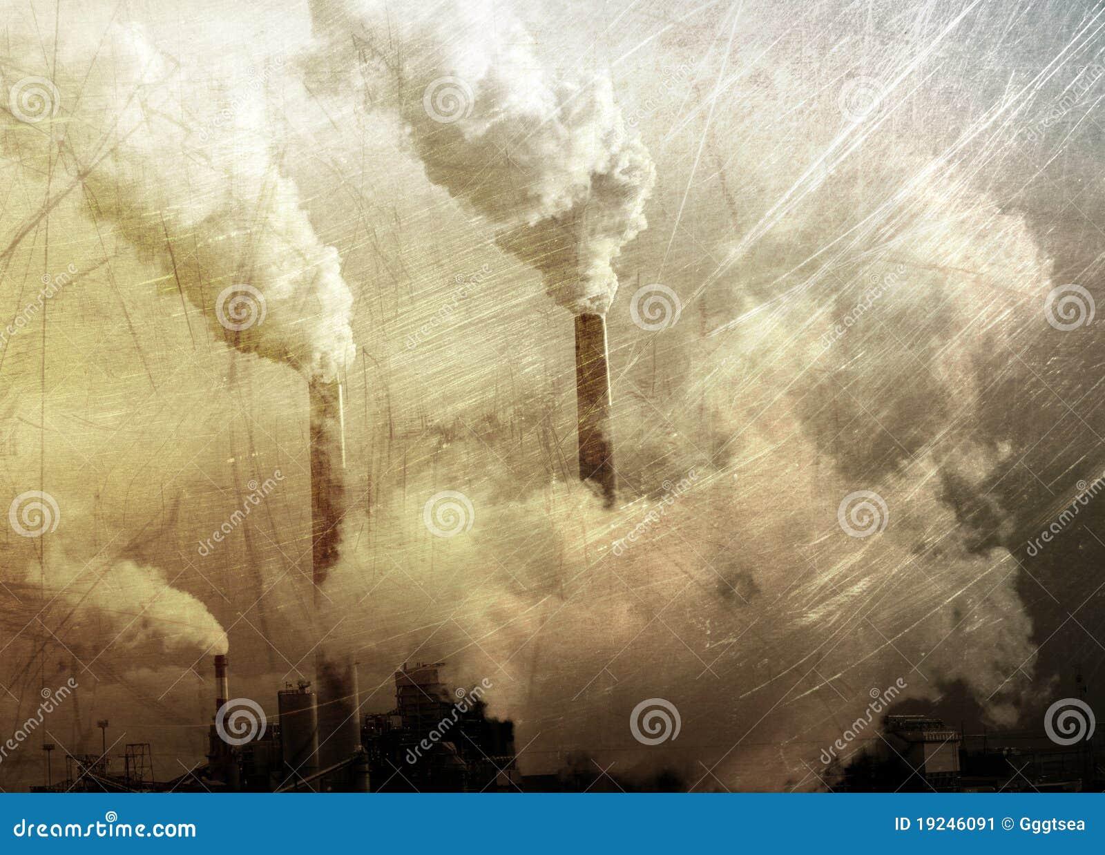 Rauchendes Fabrik grunge