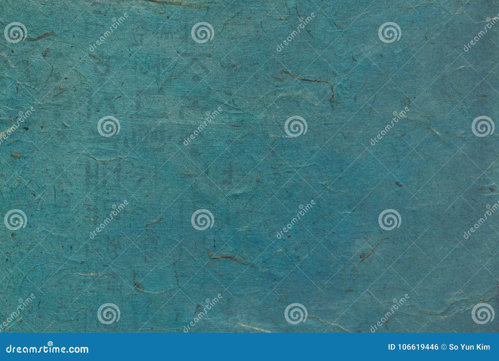 Raues Blau färbte koreanisches oder japanisches traditionelles Papier