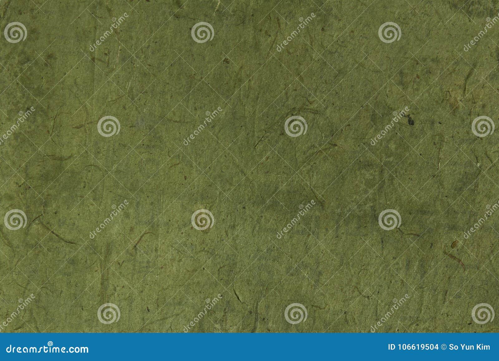 Raues Grün färbte koreanisches oder japanisches traditionelles Papier