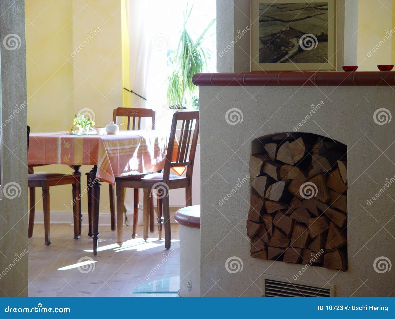Raum mit Ofen