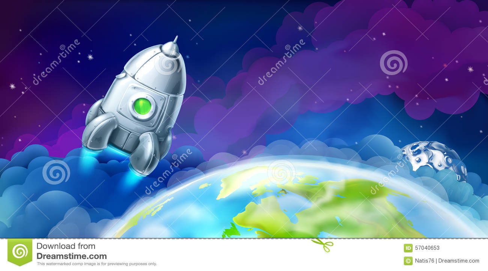 Raumfähre über der Erde