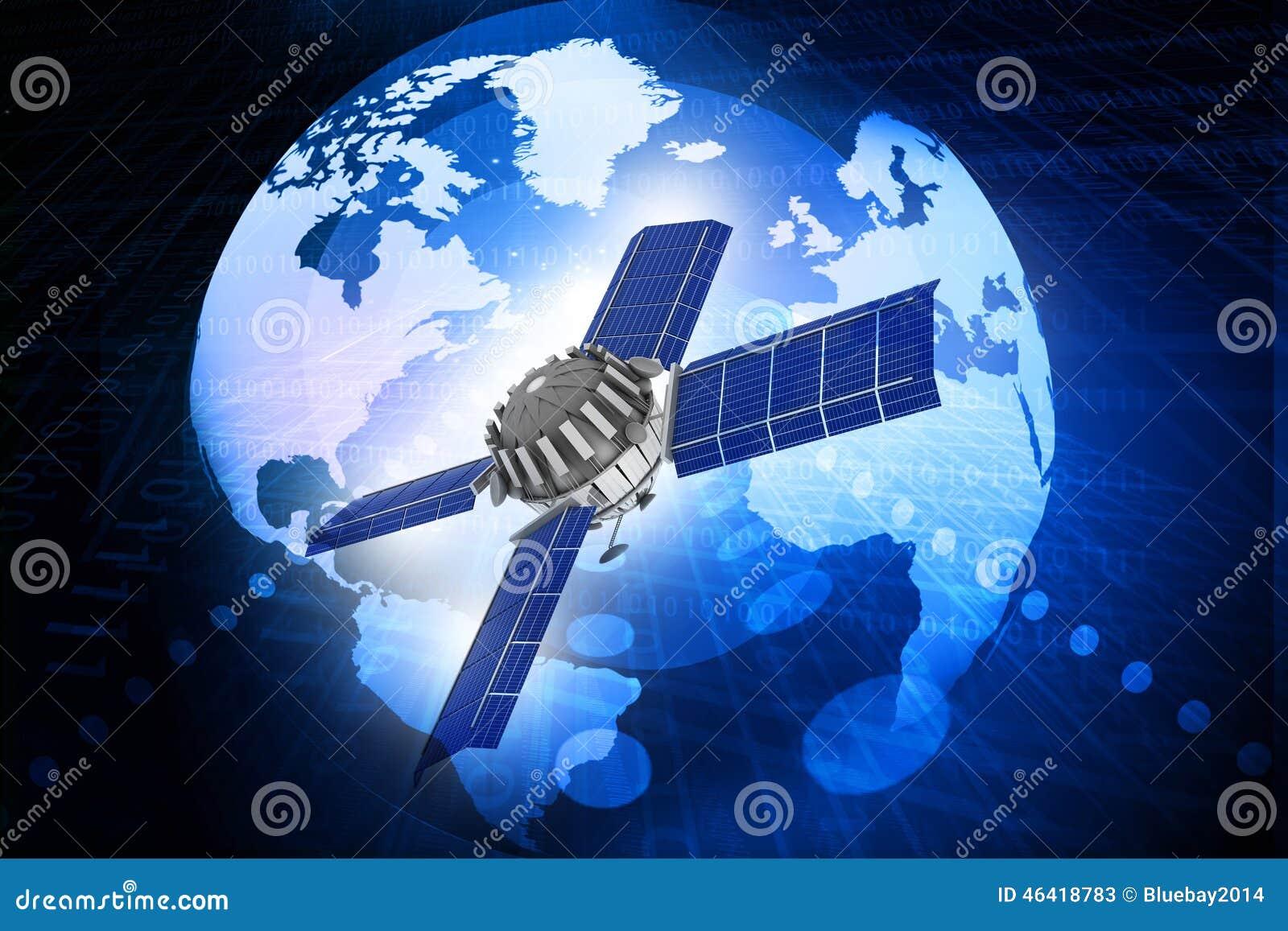 Raumschiff an der Umlaufbahn der Erde