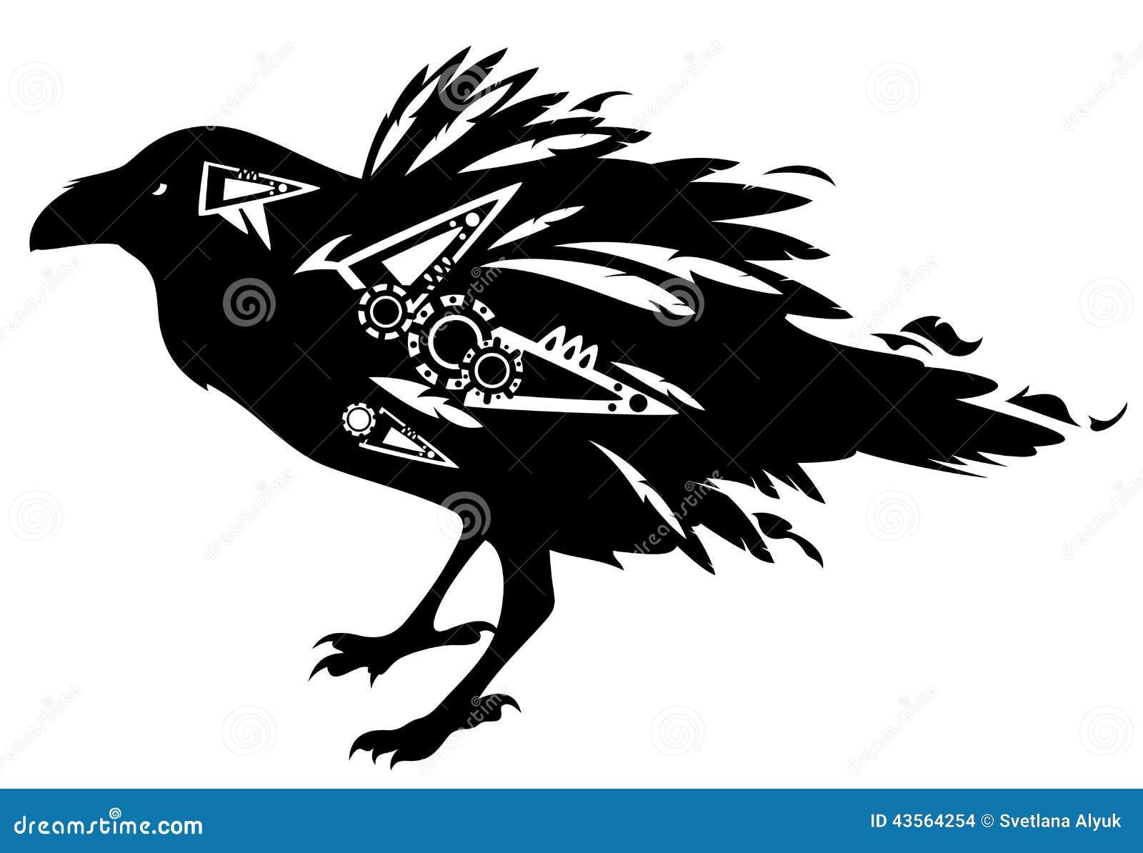 Силуэт ворона