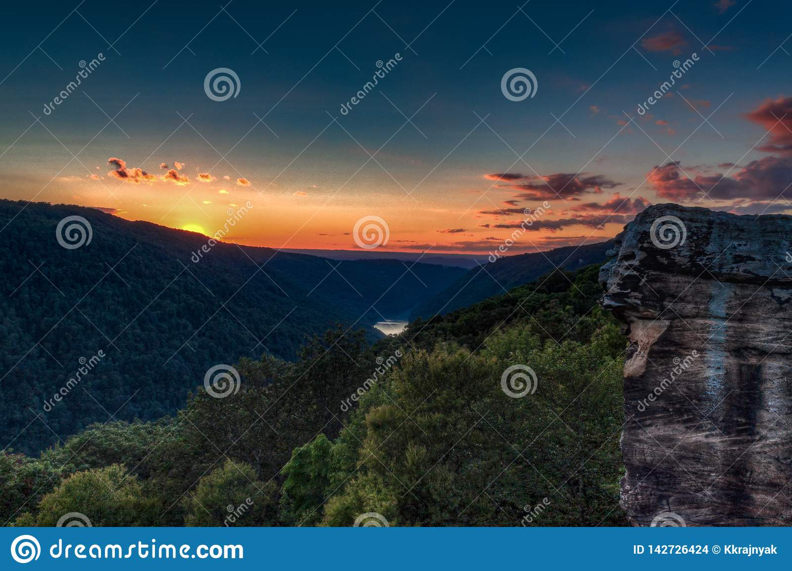 Sunset from Raven Rock, Coopers Rock State Forest