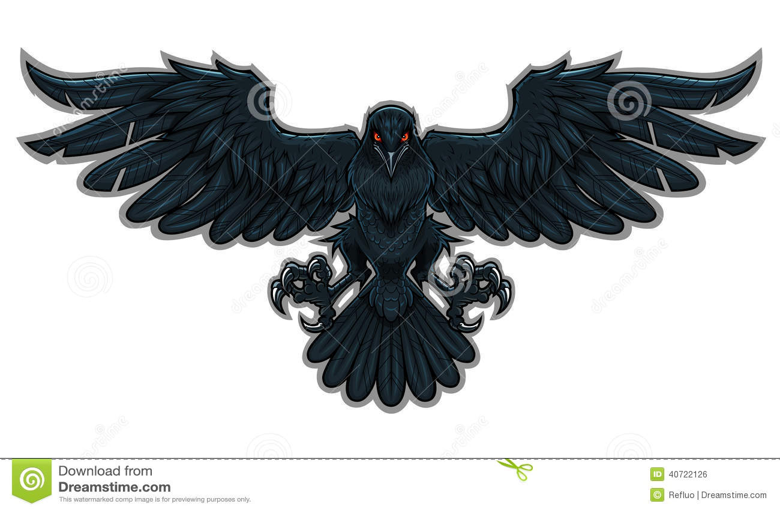 Raven Stock Vector Image 40722126