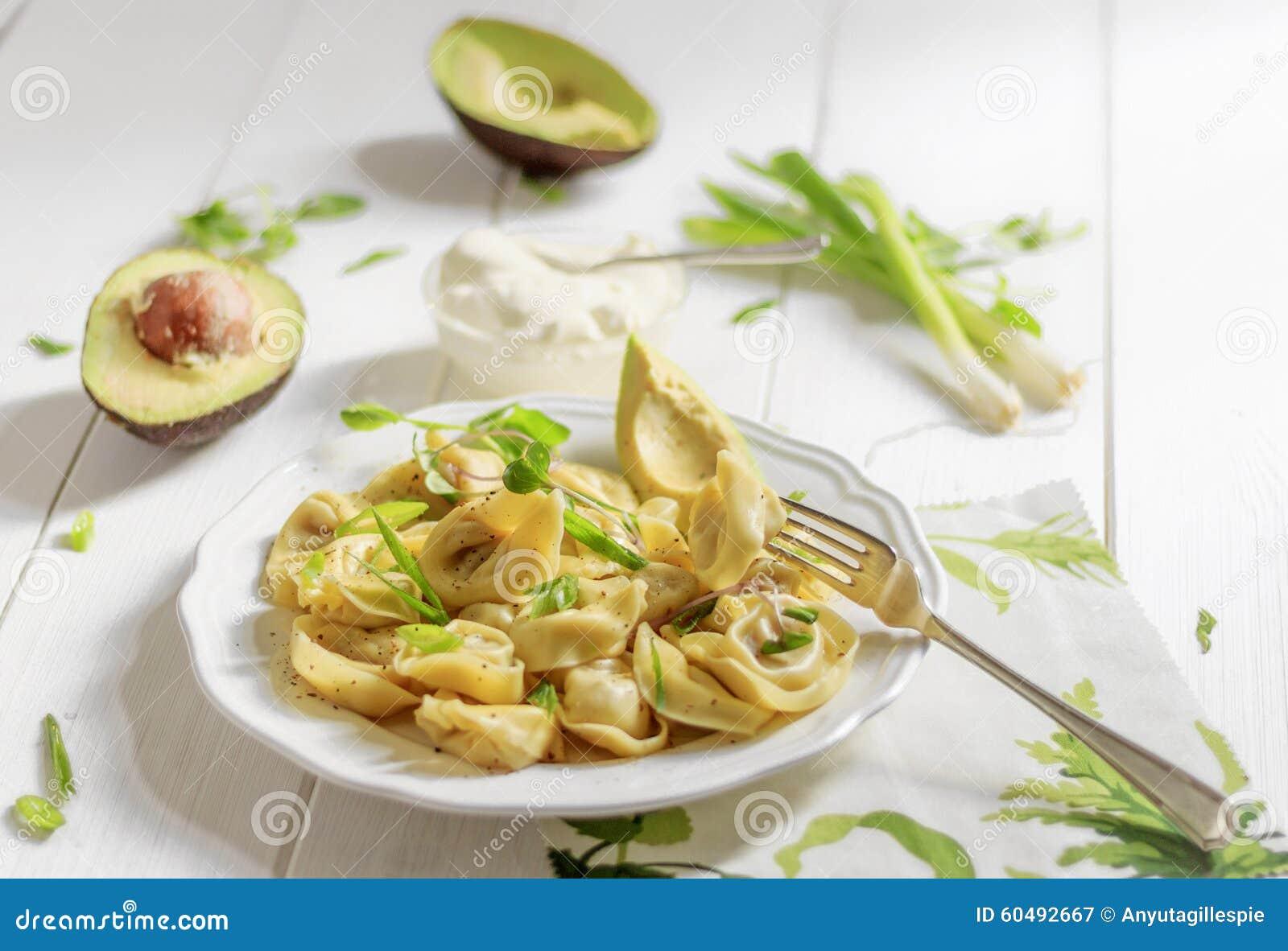 Ravioli dell italiano della foto dell alimento
