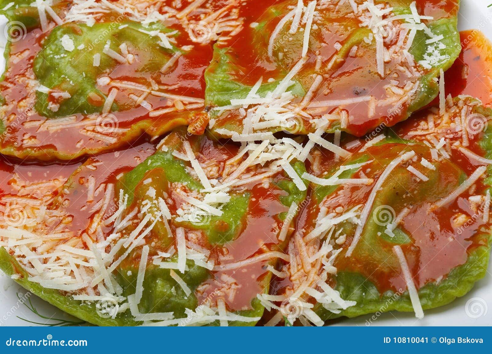 Ravioli italiani dell alimento