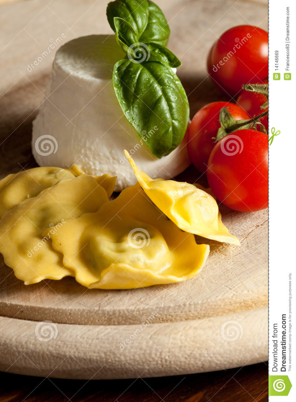 Ravioli With Ricotta And Tomatoes Stock Image - Image ...