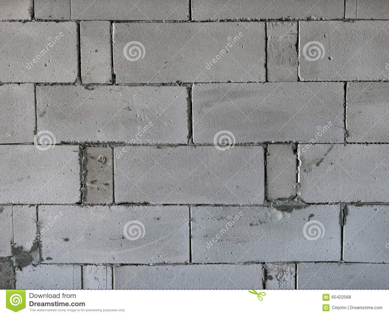 Raw AAC Autoclaved Aerated Concrete Wall, Front View, Background ...