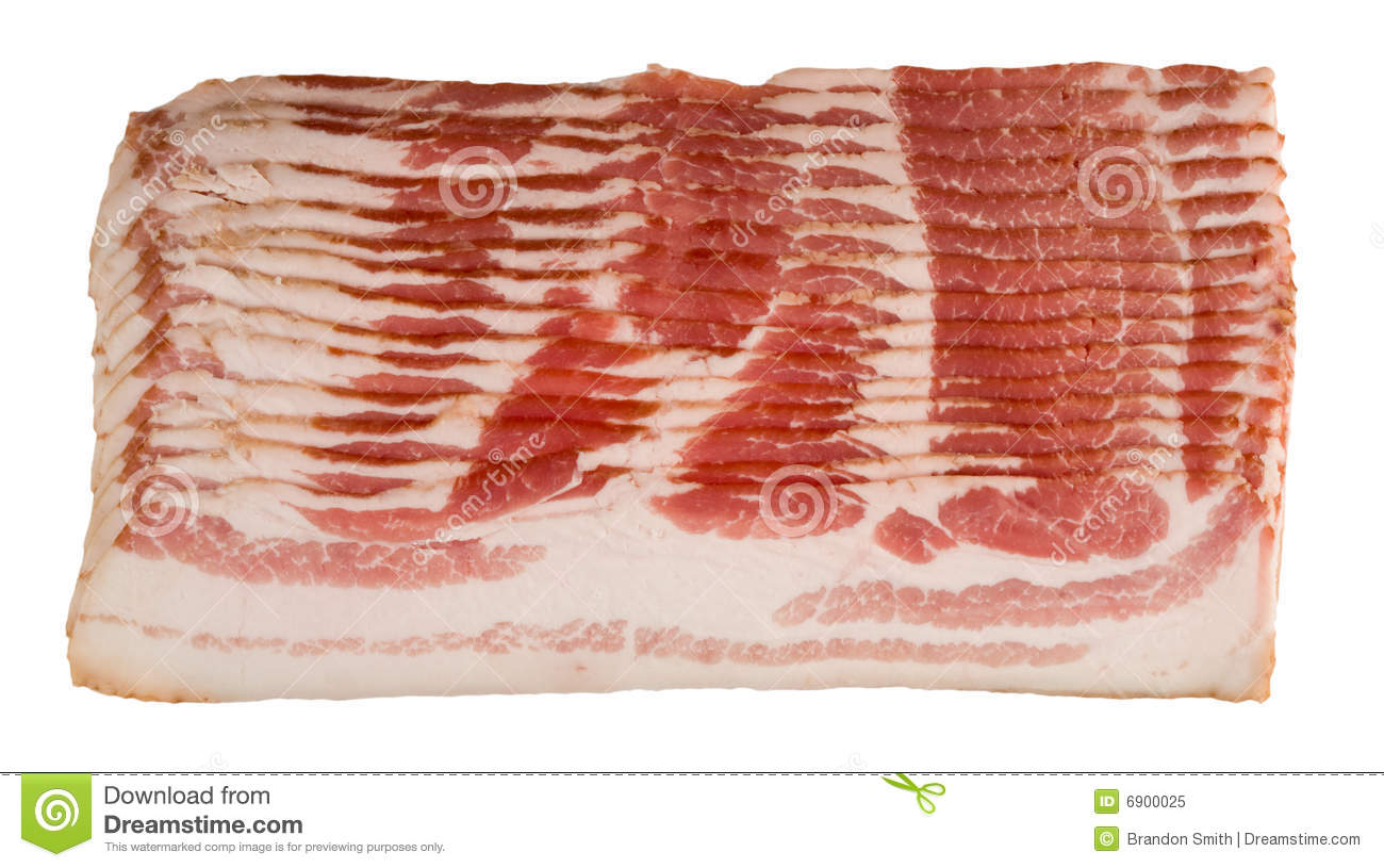 Undercooked Bacon Raw Bacon Royalty Free...