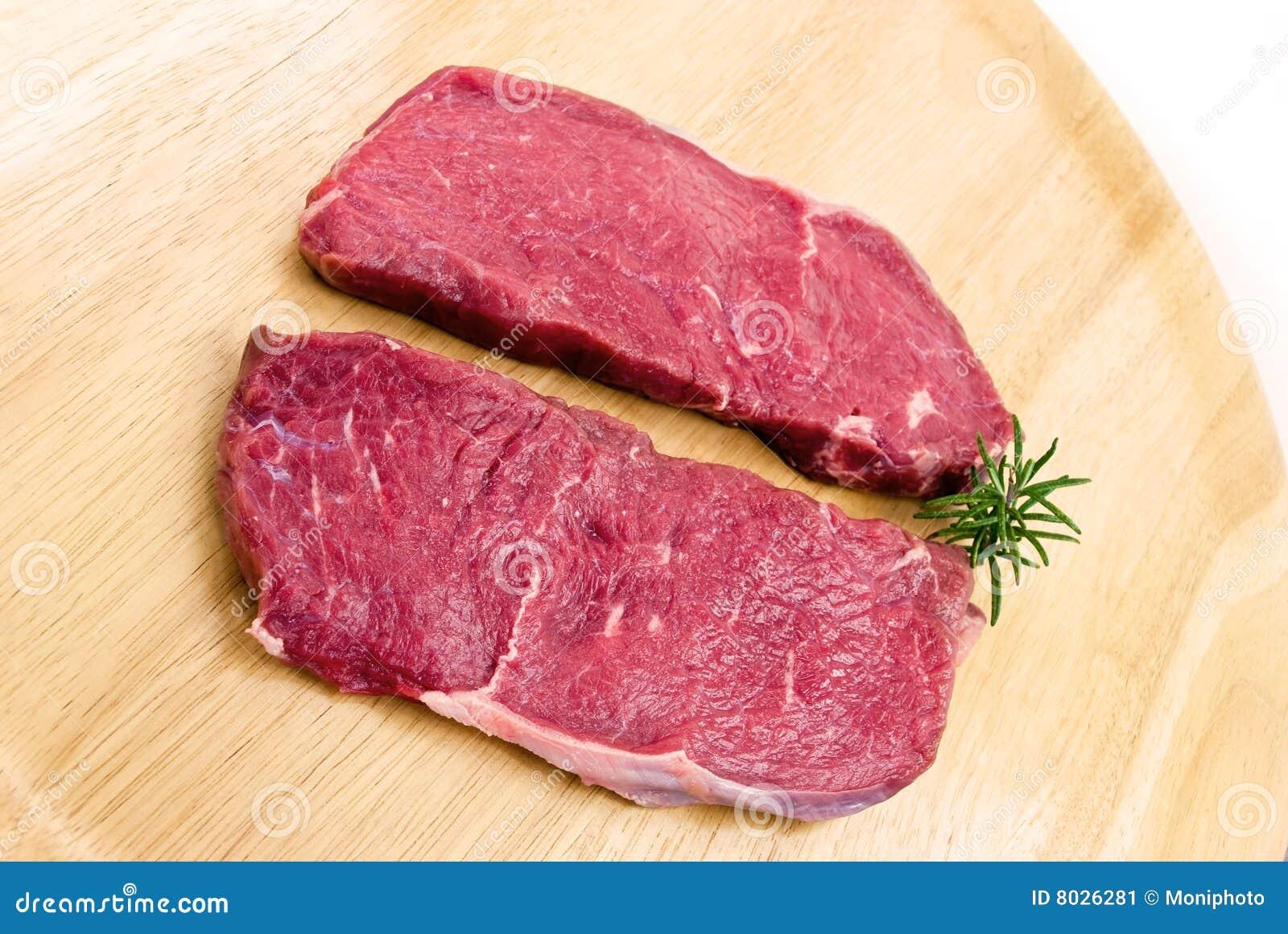 Raw Beef-roast Beef Meat Steak On The Wooden Backg Stock ...