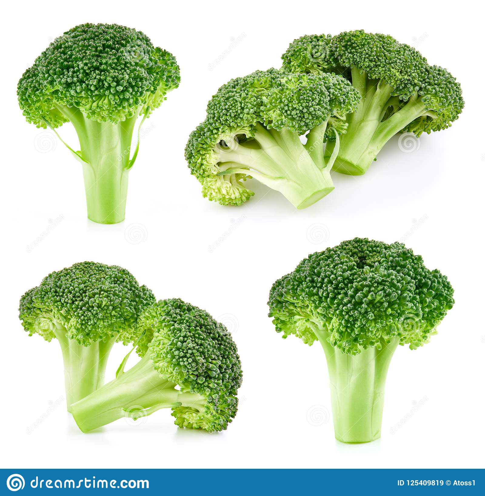 Raw broccoli isolated stock image. Image of nutrition ...