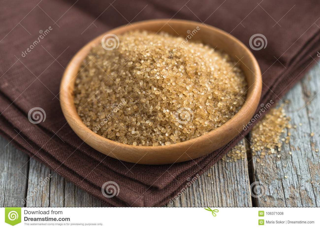 Raw Brown Crystals Sugar Or Mishri In Hindi  Selective Focus