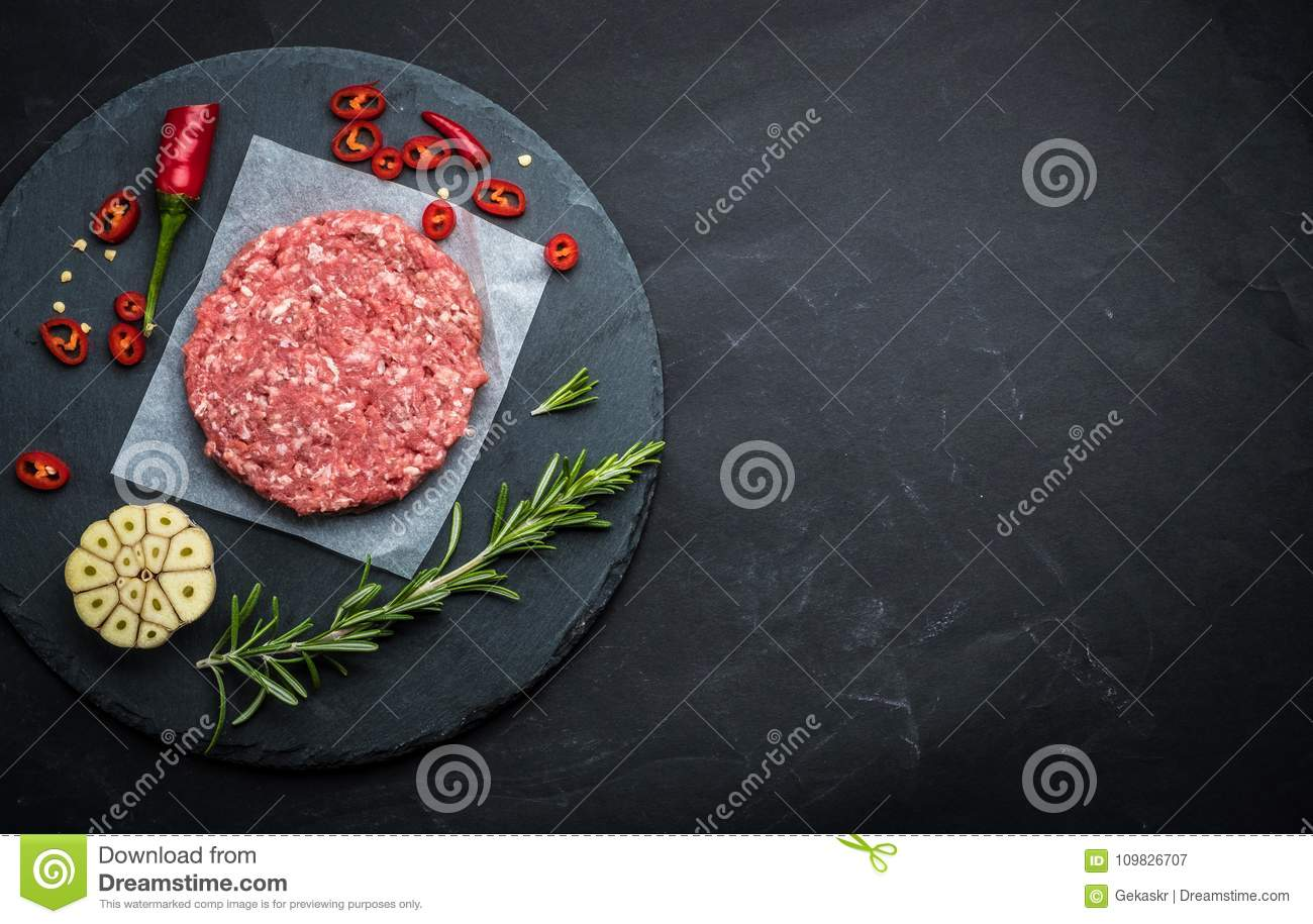 Raw cutlet for homemade burger