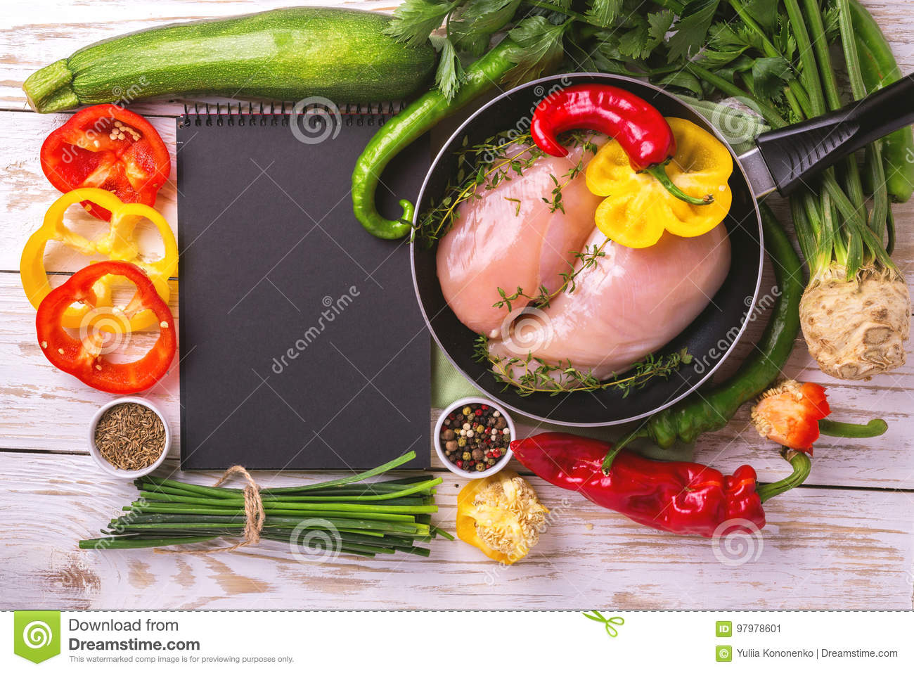 Raw chicken breast fillets with vegetables ingredients in pan stock download comp forumfinder Image collections