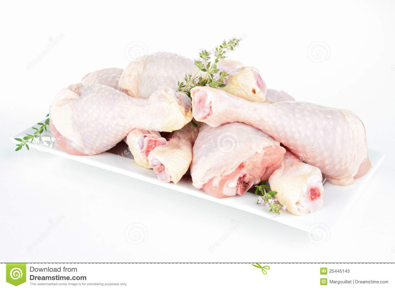 Raw Chicken Drumsticks Stock Photos - Image: 25445143