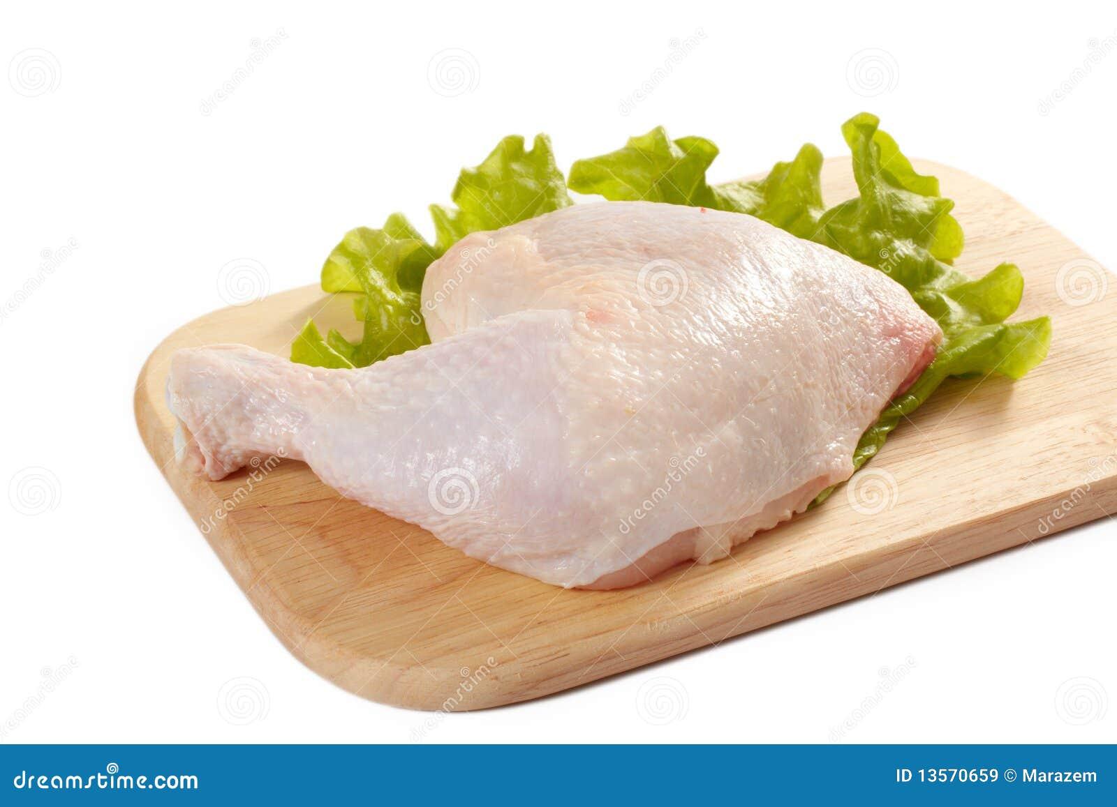 Raw chicken leg stock image. Image of fresh, white, dinner ...