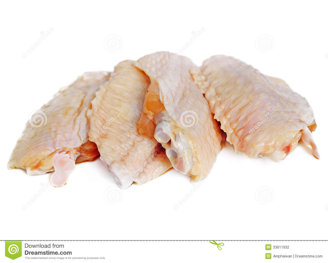 Raw Chicken Wings Stoc... Undercooked Chicken Wings