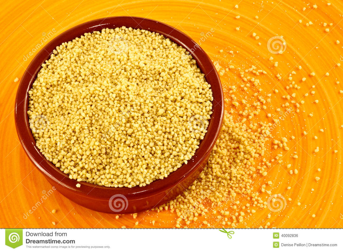 Raw Couscous Stock Photo - Image: 40092836