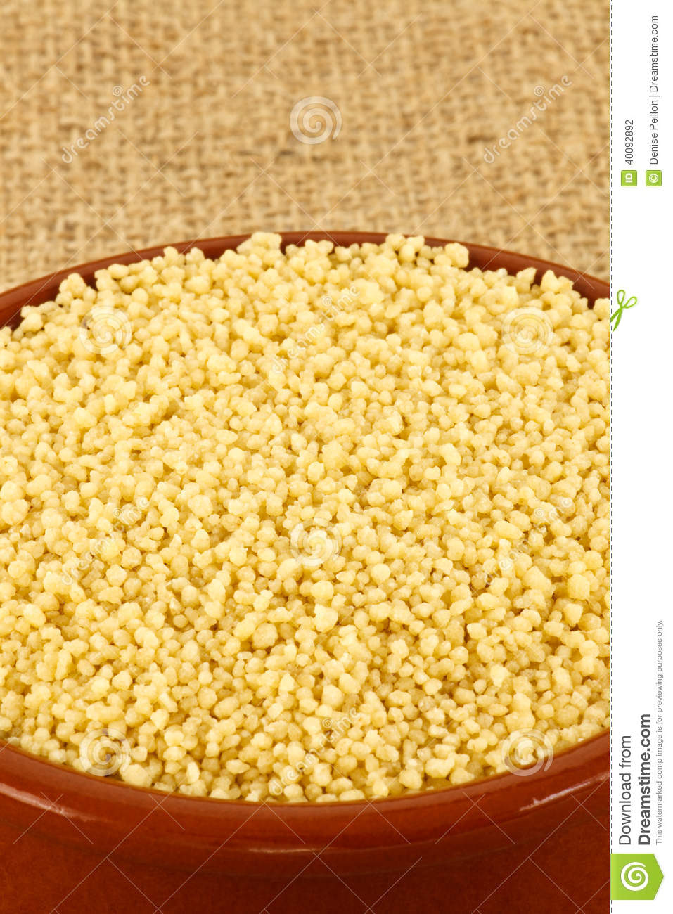 Raw Couscous Stock Photo - Image: 40092892