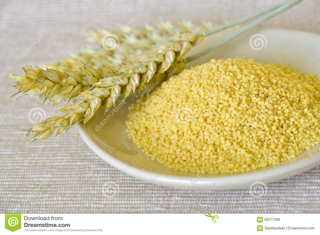 Raw Couscous Granules Stock Photo - Image: 56571366