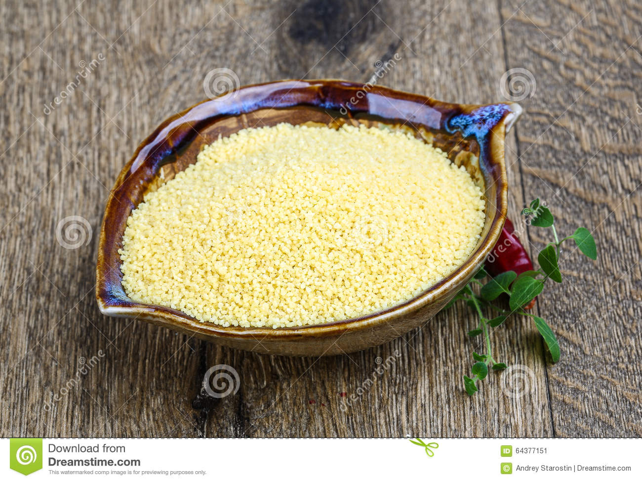Raw couscous stock image. Image of cereal, couscous ...