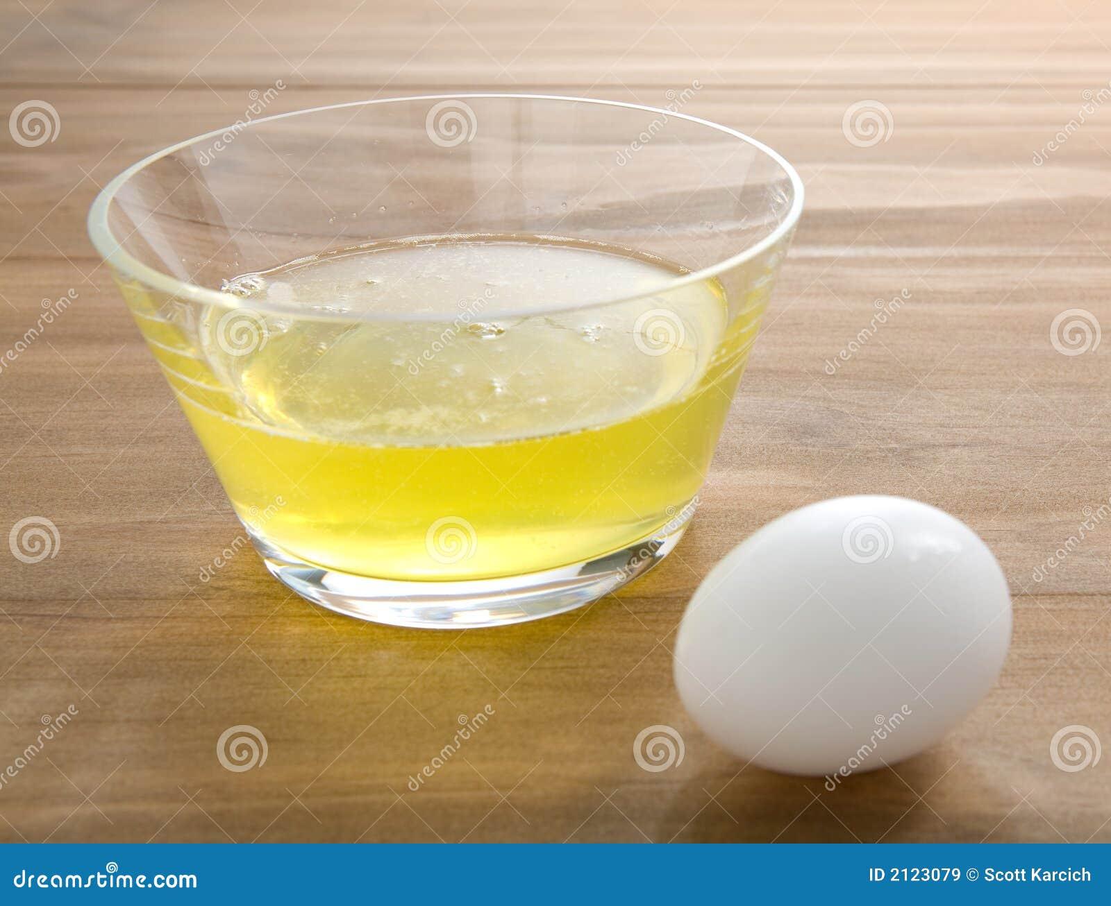 Raw Egg Whites With Whole Egg Stock Image Image Of