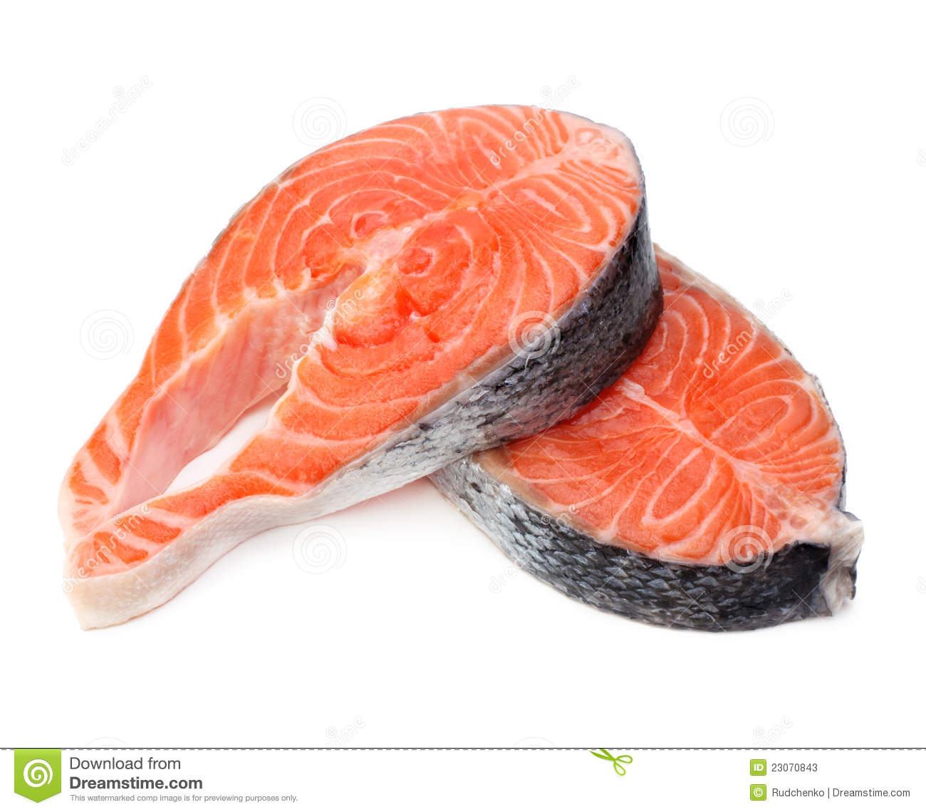 Raw Fillet Of Salmon Fish Stock Photos - Image: 23070843