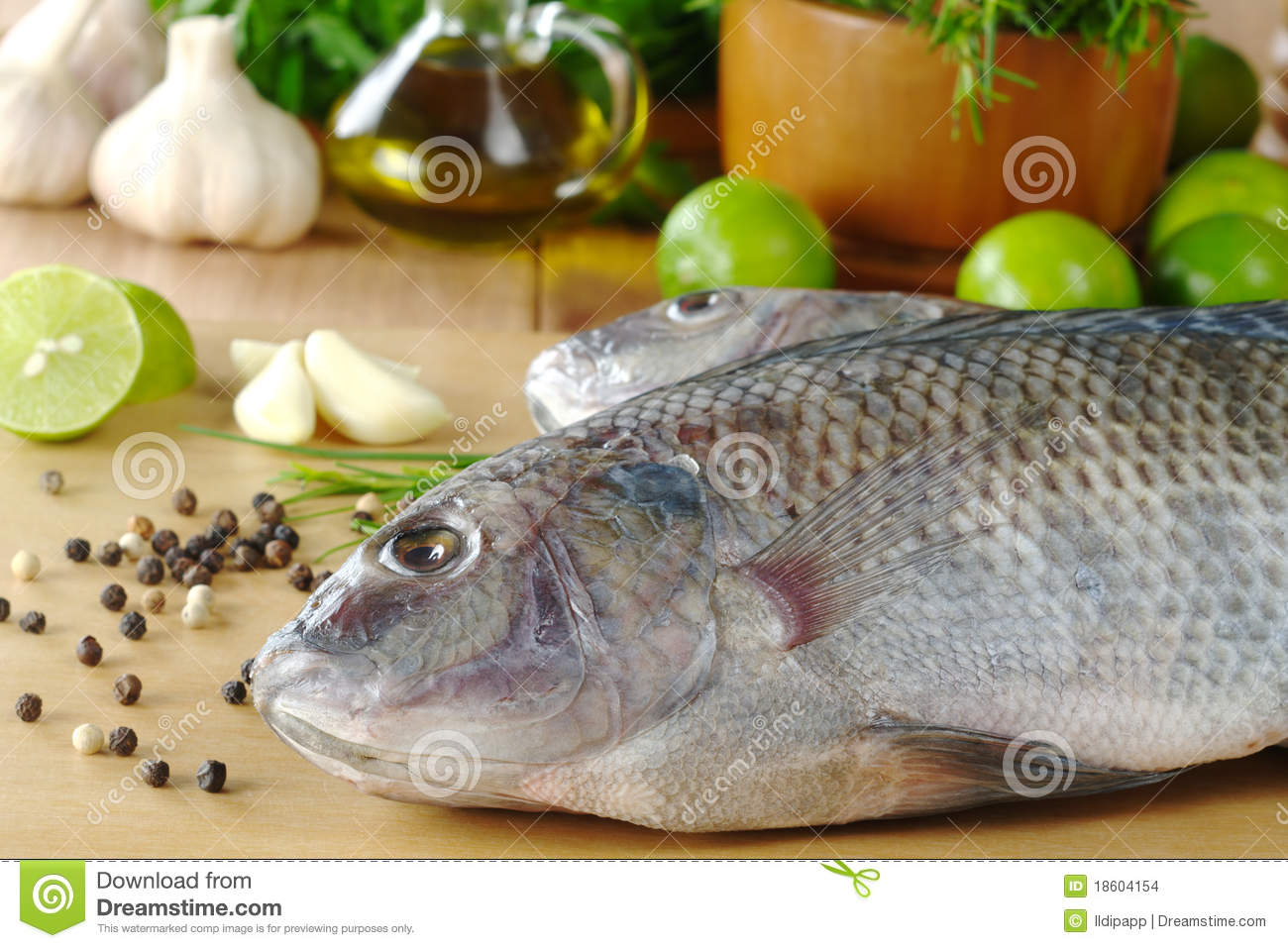 Raw fish called tilapia stock images image 18604154 for Fish seasoning for tilapia