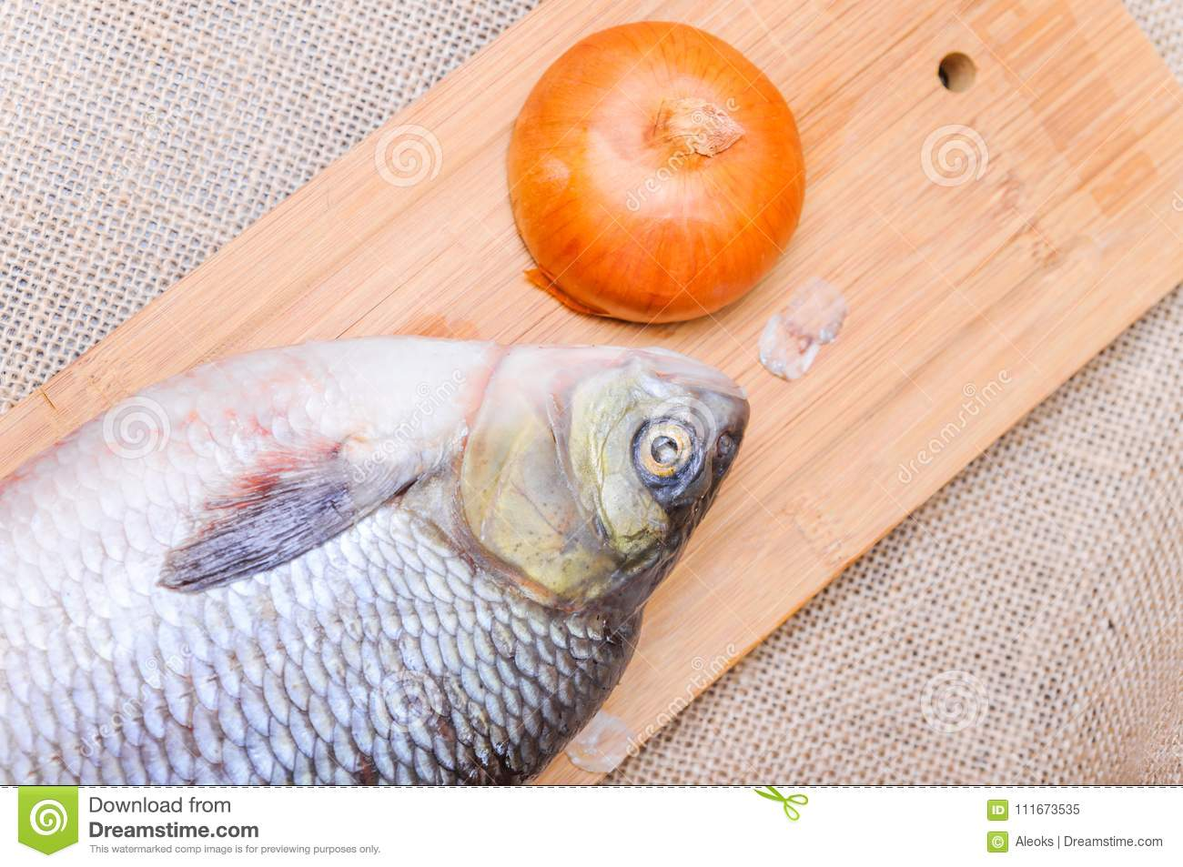 What does a raw fish dream about