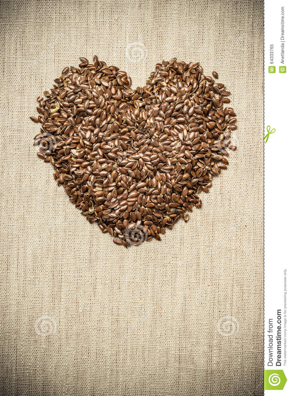 Raw flax seeds