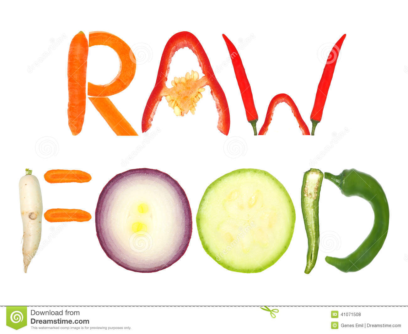 Raw food stock photo image 41071508 for Cuisine words