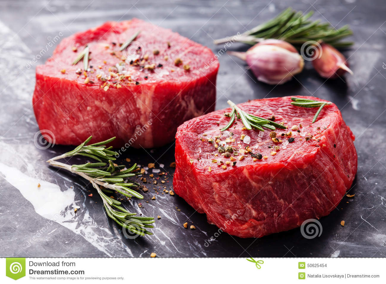 Raw fresh marbled meat Steak