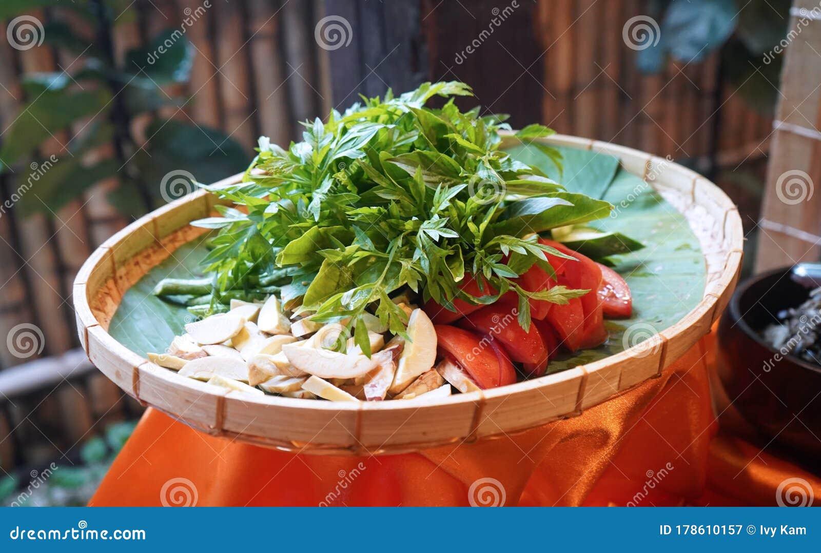 Raw Healthy Vegetables Platter Ulam Ulaman Stock Image Image Of Appetizer Ramadan 178610157