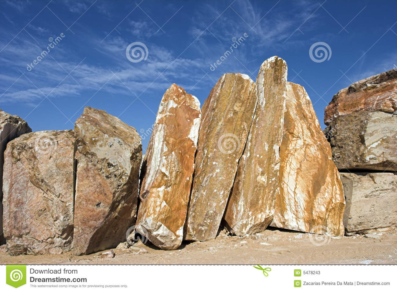 Raw Marble Stock Image Image Of Bulk Outside Calcium