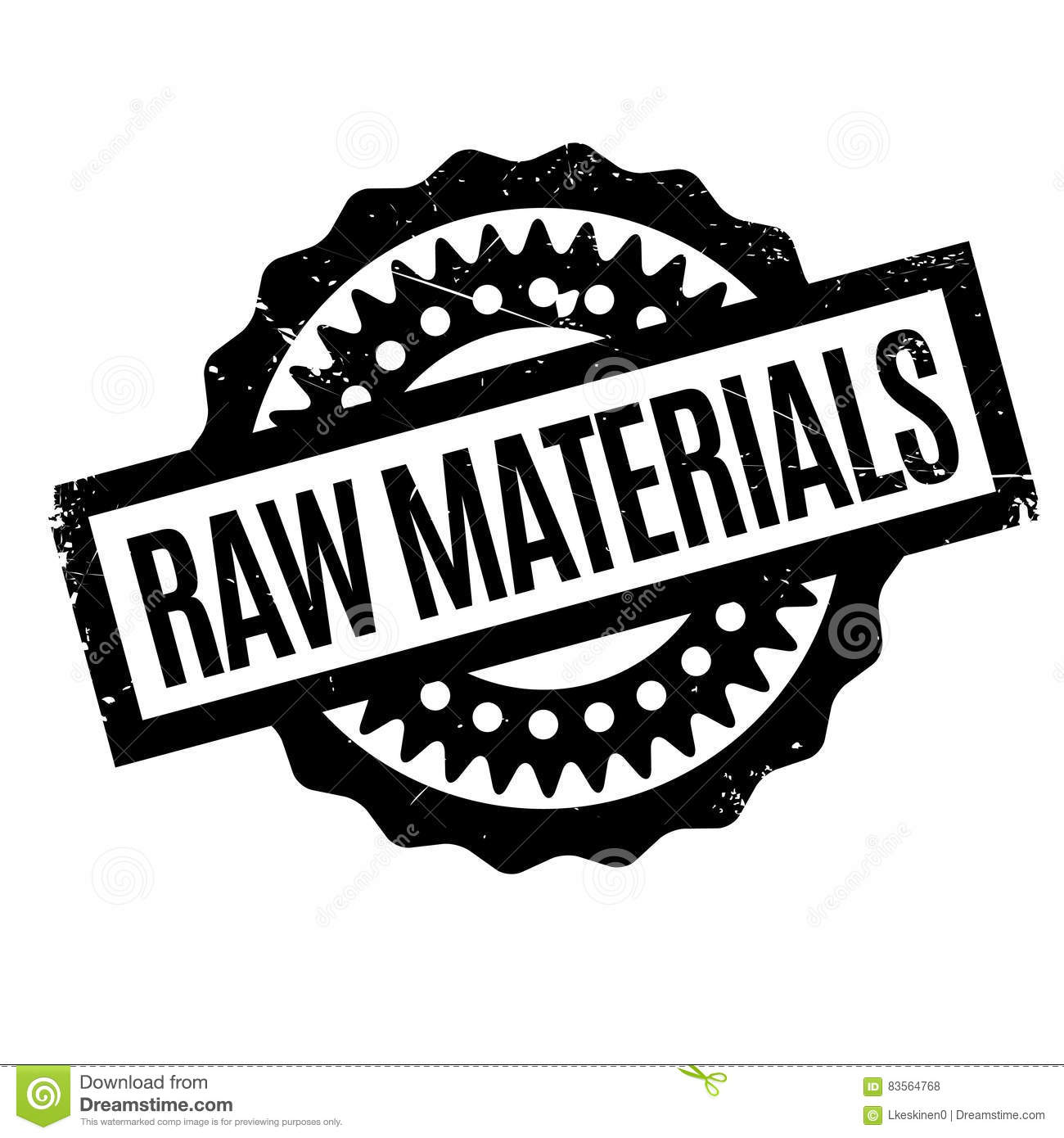Raw Materials Rubber Stamp