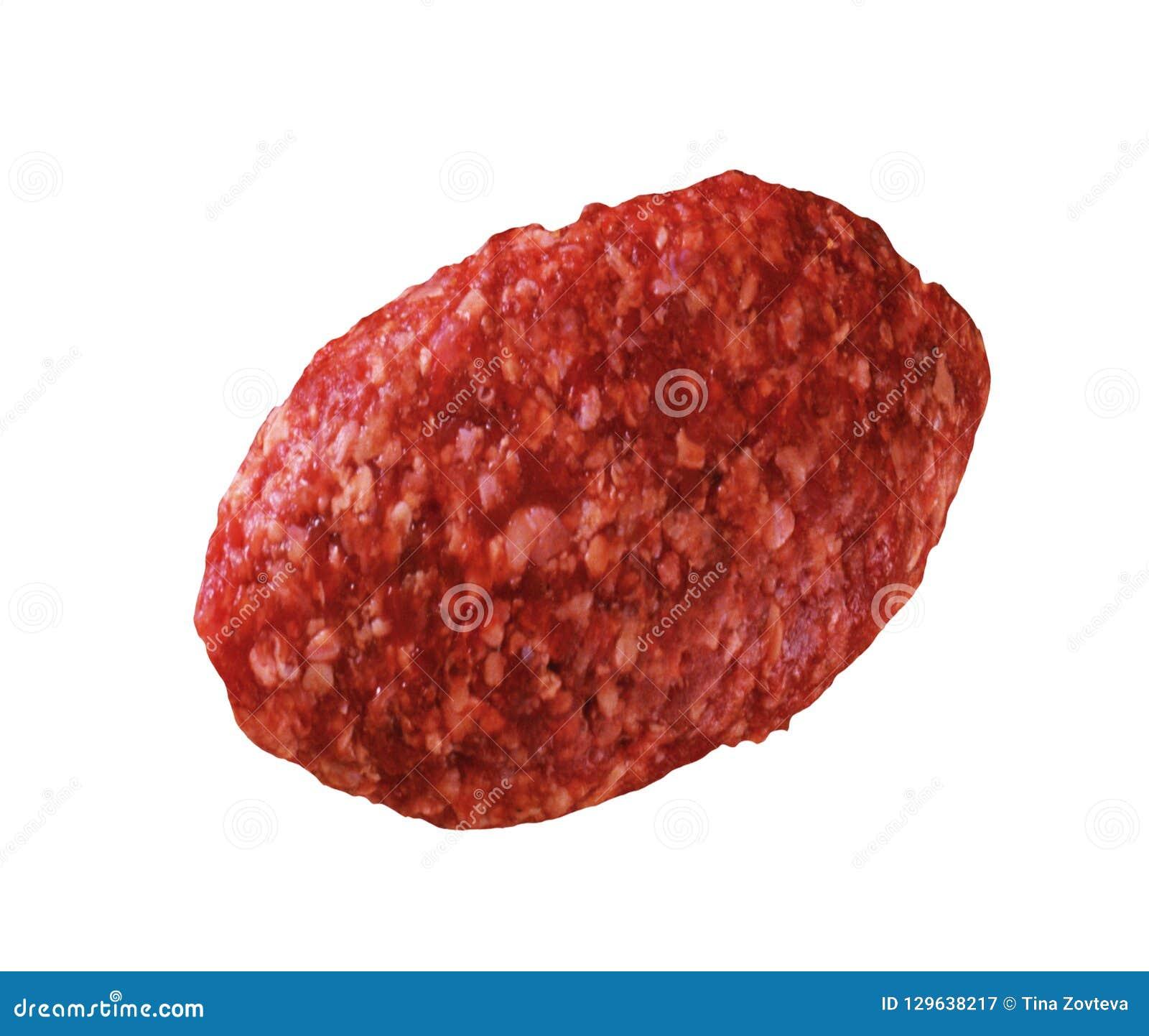 Raw meatball isolated